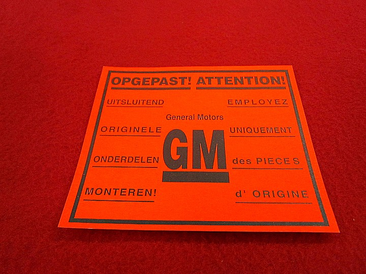 Aufkleber GM-Teile