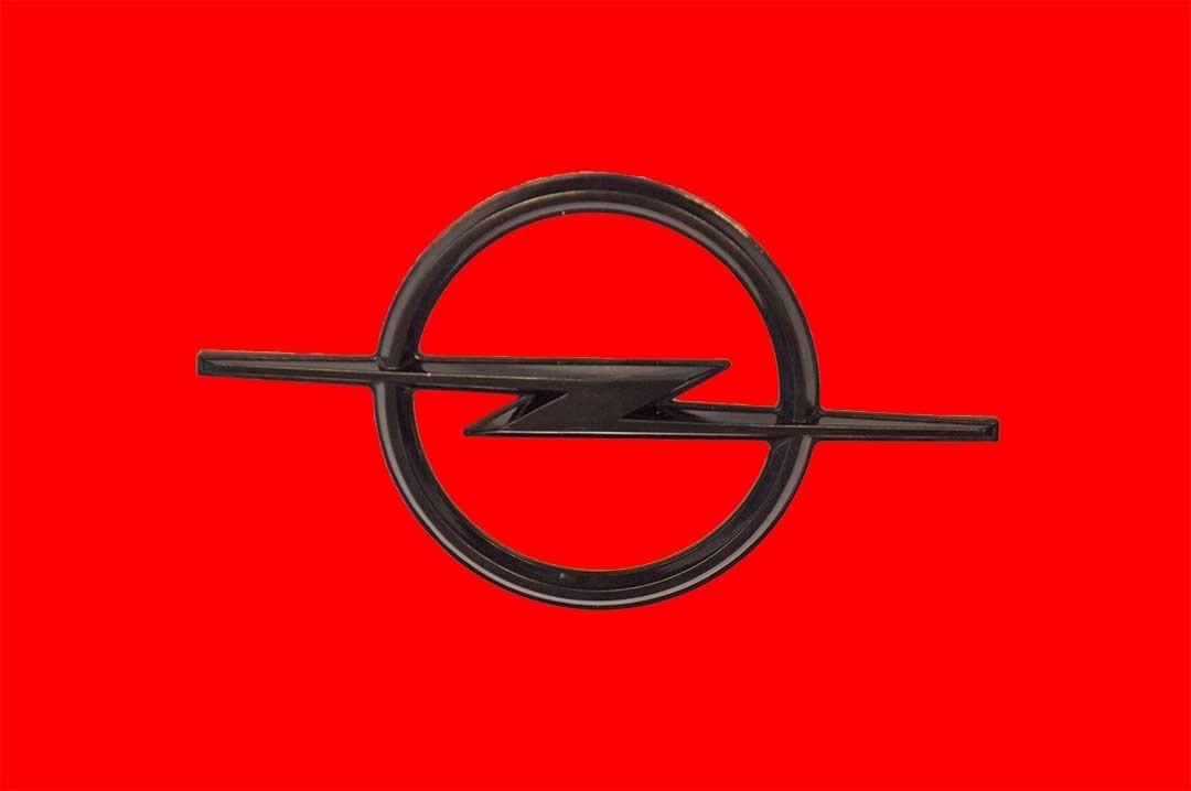 Opel Blitz emblem schwarz GT/J