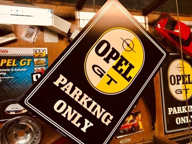 Opel GT Parkschild