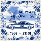 50 Years Opel GT Echte Fliese - 15x15 cm