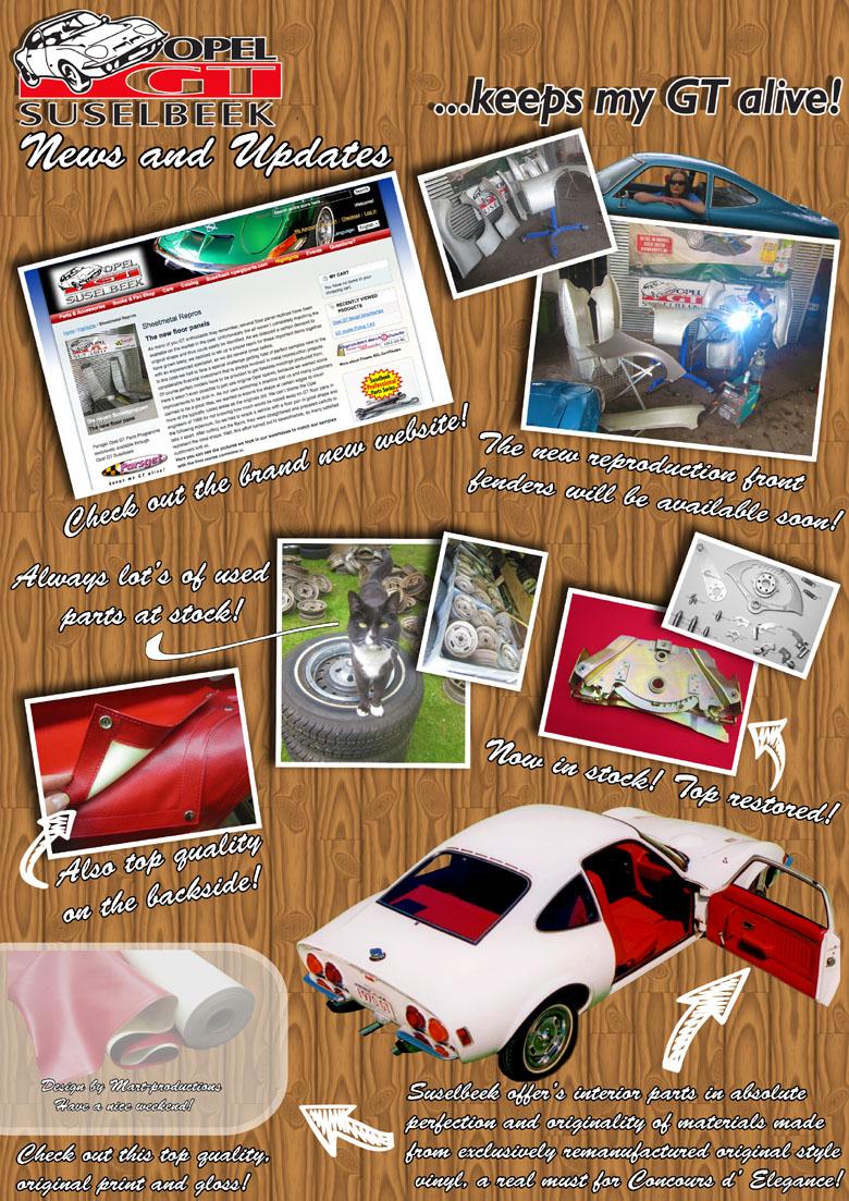 Suselbeek News Juni 2012 - Suselbeek Opel GT Parts Shop