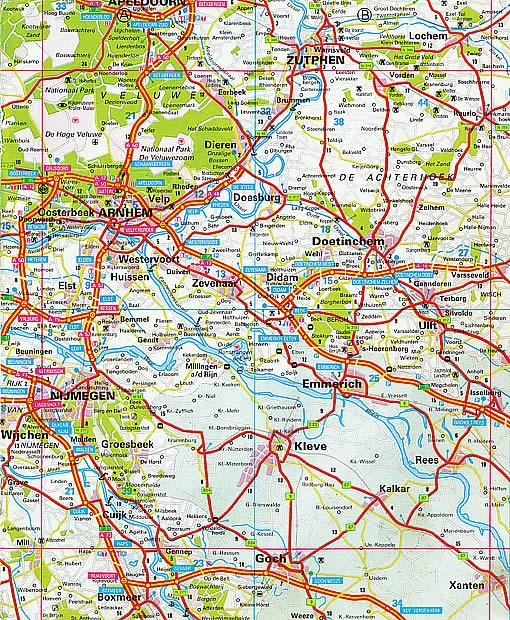 Strassenkarte von Arnheim