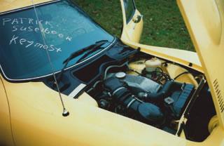 Opel GT mit Kreideaufschrift