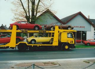 GTs auf Transporter