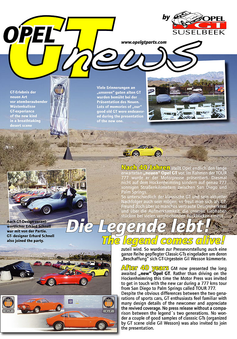 Opel GT News 1