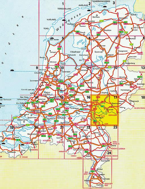 Strassenkarte der Neiderlande